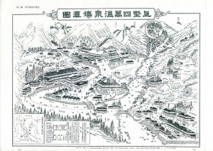 四万温泉の古地図